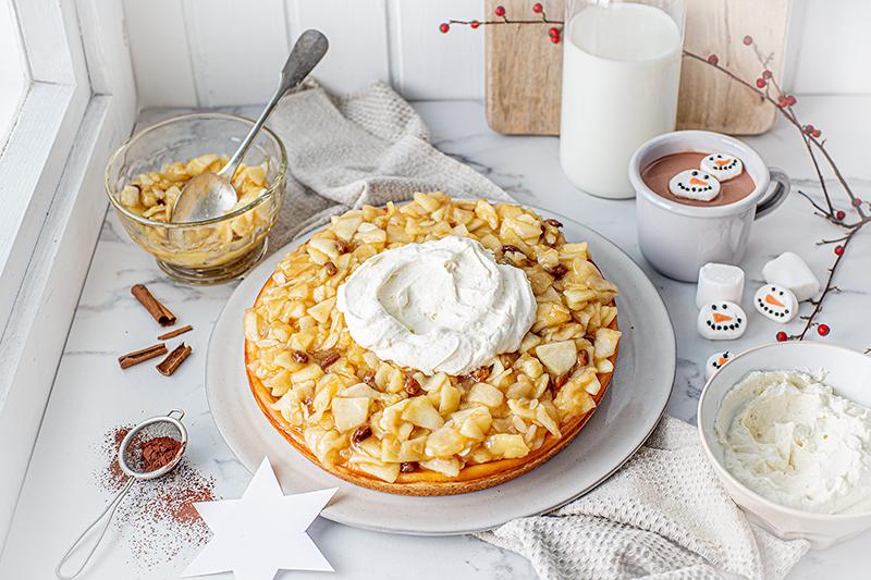 Perfekt im Advent: Käsekuchen mit Bratapfelkompott 35
