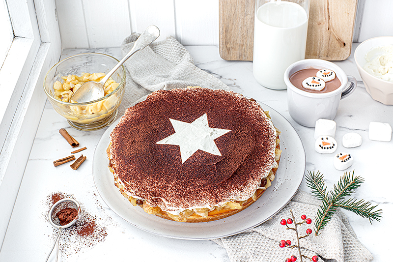 Perfekt im Advent: Käsekuchen mit Bratapfelkompott 38