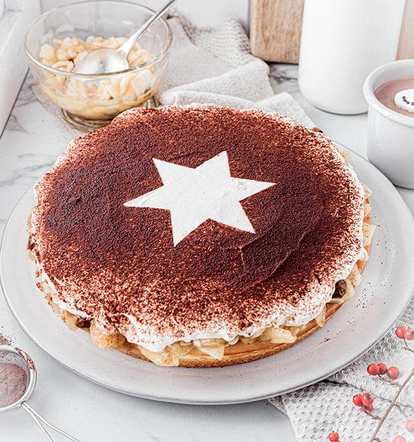 Perfekt im Advent: Käsekuchen mit Bratapfelkompott 8