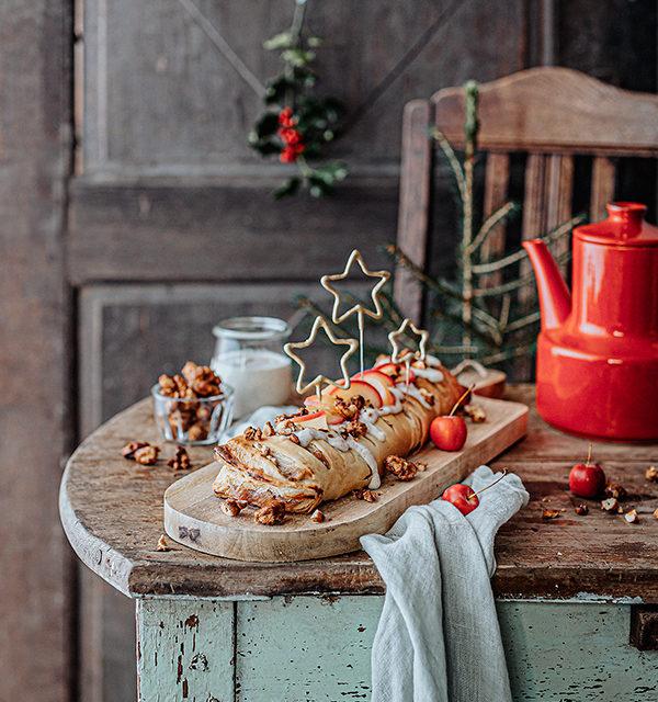 Veganes Weihnachtsrezept: Apfelstrudel mit Cashew-Vanillesoße 16