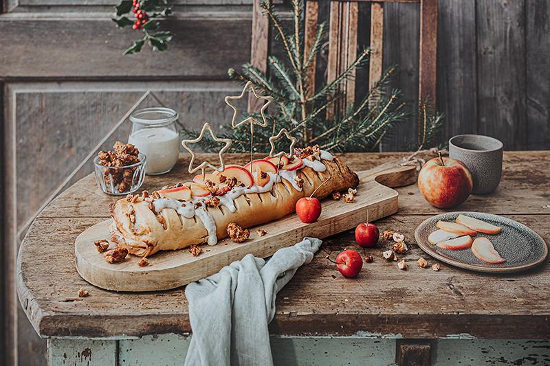 Veganes Weihnachtsrezept: Apfelstrudel mit Cashew-Vanillesoße 30