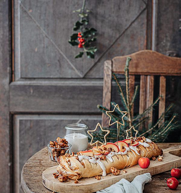 Veganes Weihnachtsrezept: Apfelstrudel mit Cashew-Vanillesoße 3