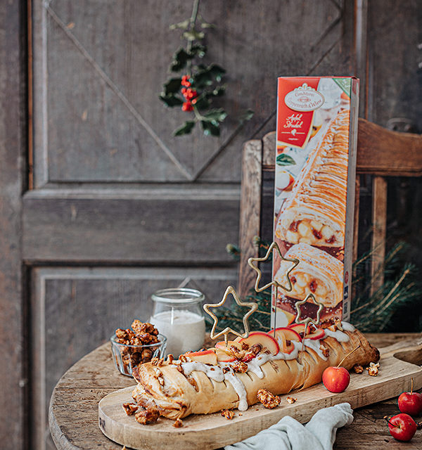 Veganes Weihnachtsrezept: Apfelstrudel mit Cashew-Vanillesoße 4