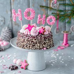 Weihnachtstorte mit HOHO-Caketopper