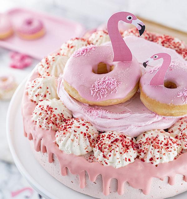 Flamingo-Torte einfach gemacht! 19