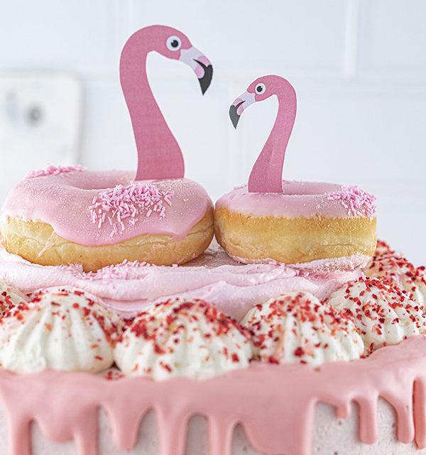 Flamingo-Torte einfach gemacht! 20