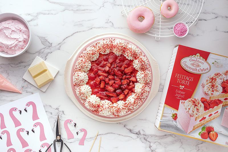 Flamingo-Torte einfach gemacht! 33