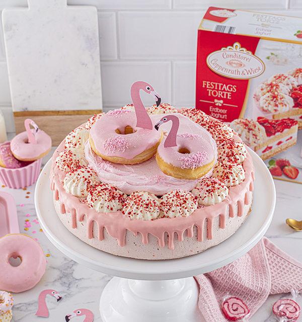 Flamingo-Torte einfach gemacht! 3