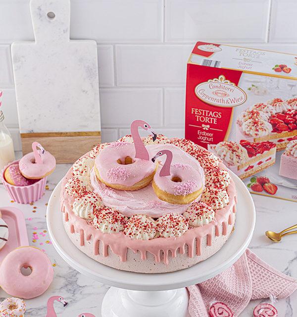 Flamingo-Torte einfach gemacht! 4