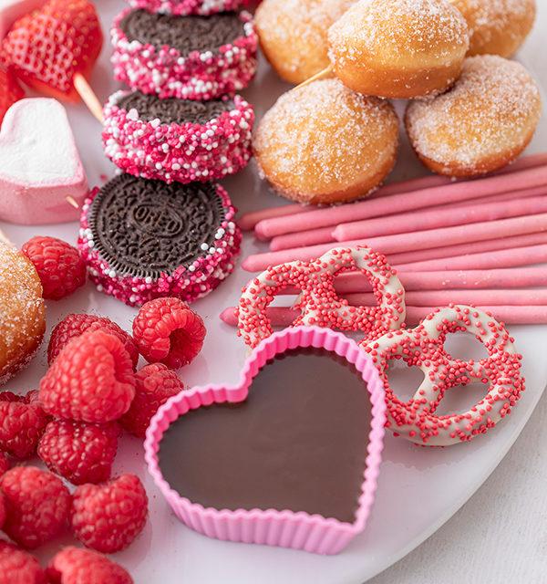 Süßes Schokofondue zum Valentinstag 17