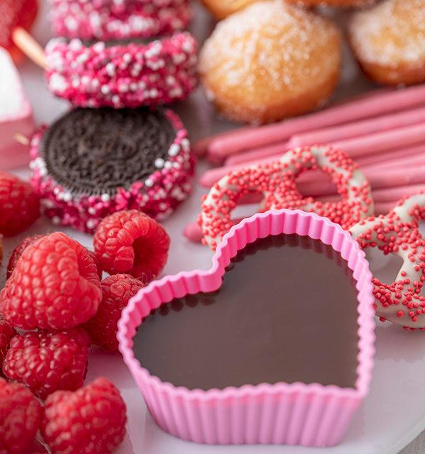 Süßes Schokofondue zum Valentinstag 18