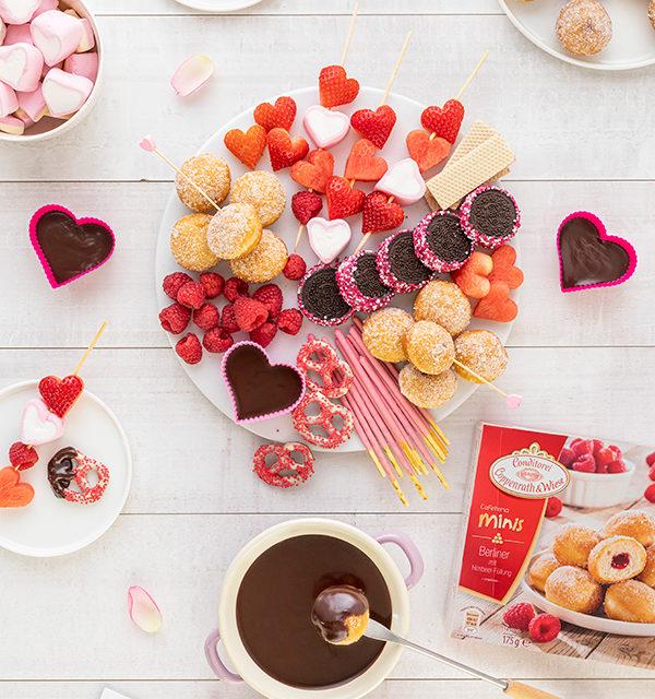 Süßes Schokofondue zum Valentinstag 24
