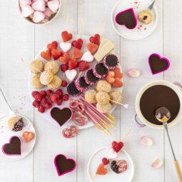 Süßes Schokofondue zum Valentinstag 26