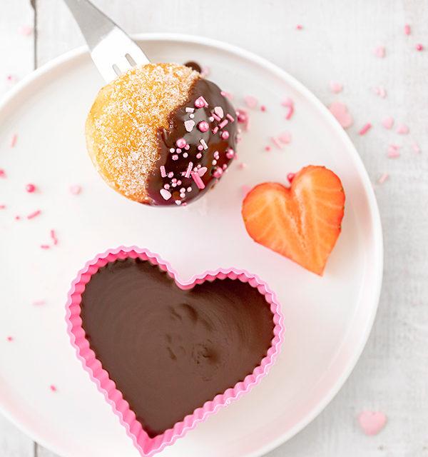 Süßes Schokofondue zum Valentinstag 2