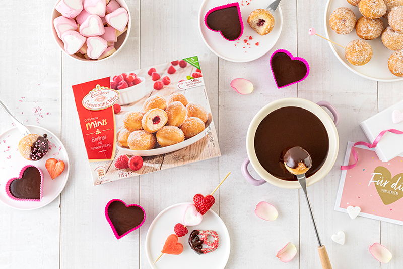 Süßes Schokofondue zum Valentinstag 30