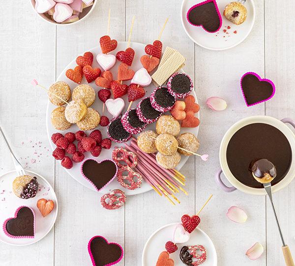 Süßes Schokofondue zum Valentinstag 33