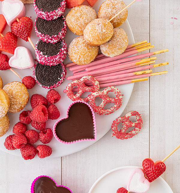 Süßes Schokofondue zum Valentinstag 3