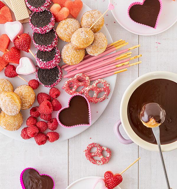 Süßes Schokofondue zum Valentinstag 4