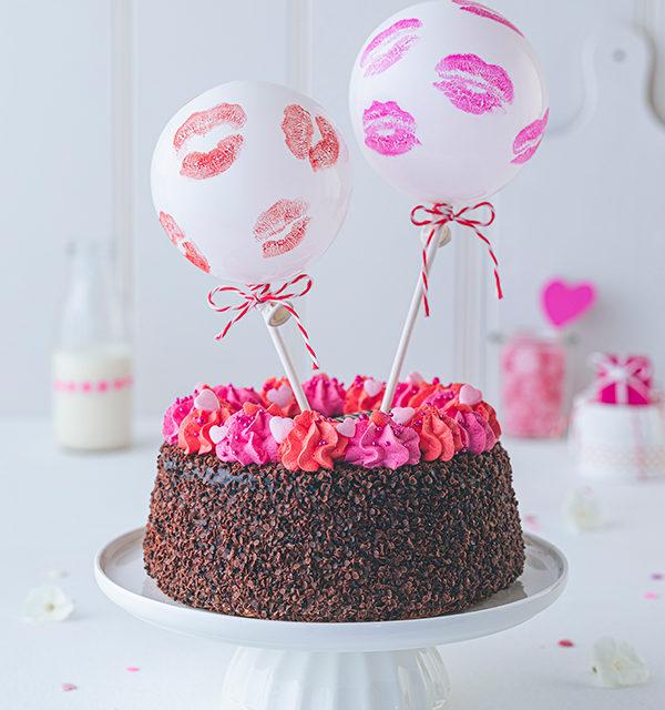 Valentinstorte mit Luftballon-Dekor 3