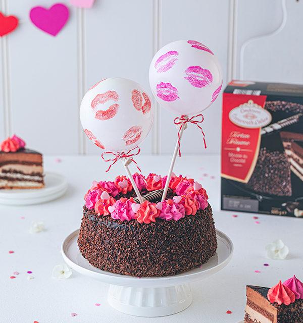 Valentinstorte mit Luftballon-Dekor 7