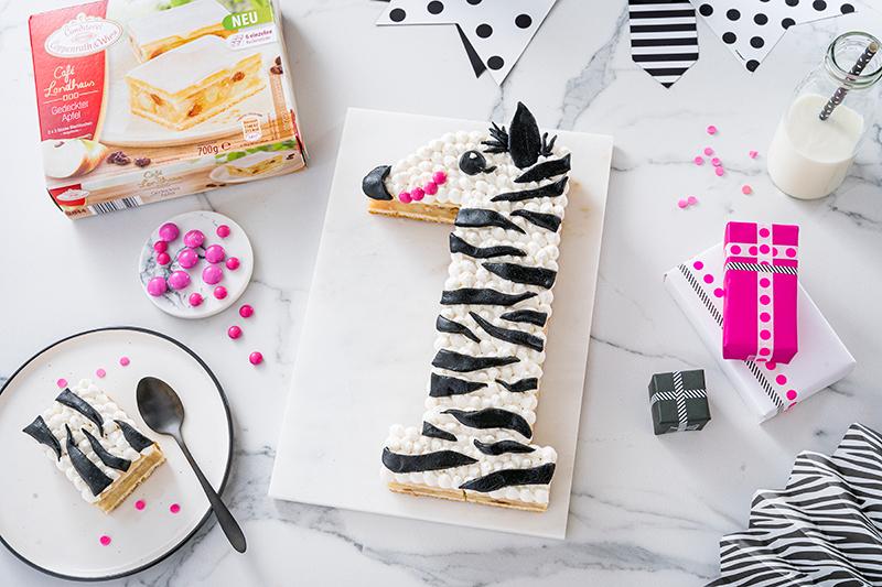 Zebra-Kuchen zum 1. Geburtstag 10