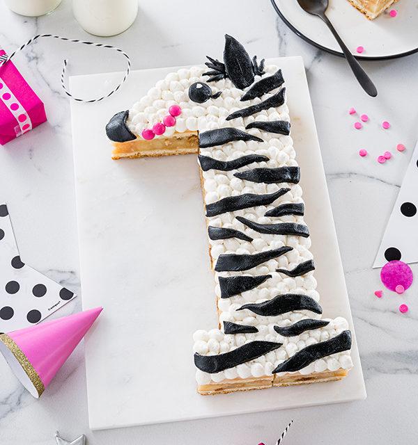 Zebra-Kuchen zum 1. Geburtstag 18