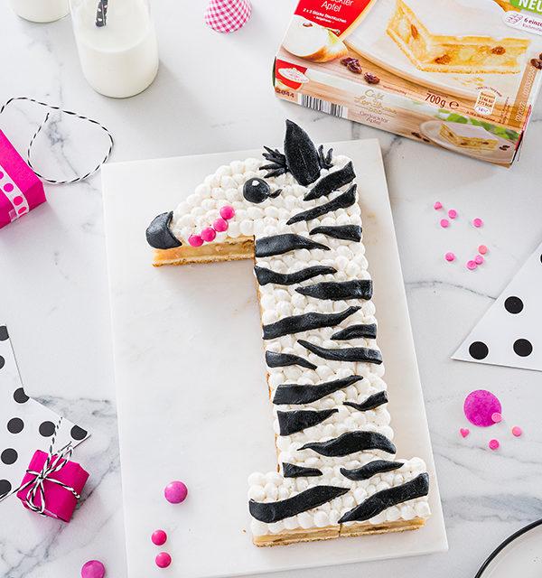 Zebra-Kuchen zum 1. Geburtstag 21