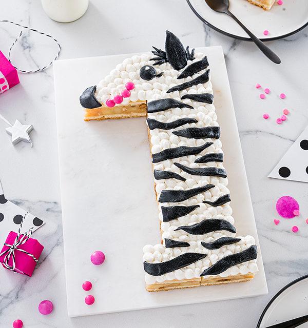 Zebra-Kuchen zum 1. Geburtstag 22
