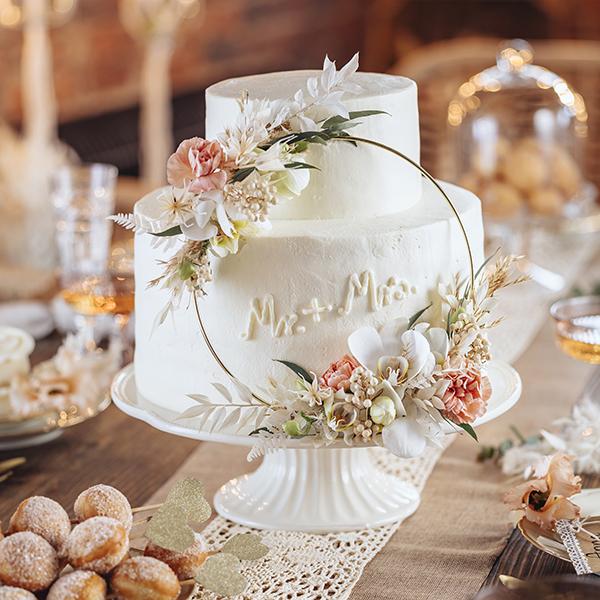 Boho-Hochzeit: So einfach könnt ihr die Hochzeitstorte dazu selber machen! 1