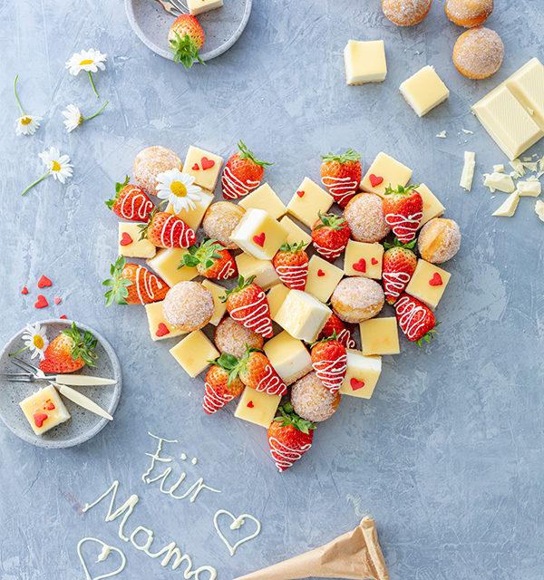 Fingerfood-Herz zum Muttertag 2